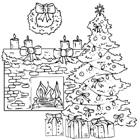 coloring page christmas fireplace free coloring pages of chimney