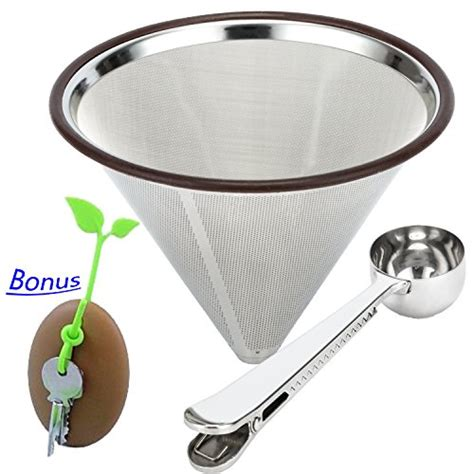 Promo V60 Cone Coffee Filter Stainless Coffee Dripper Saringan Kopi 23 most wanted coffee caraves