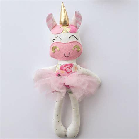 rag doll unicorn unicorn doll fabric doll handmade doll rag doll