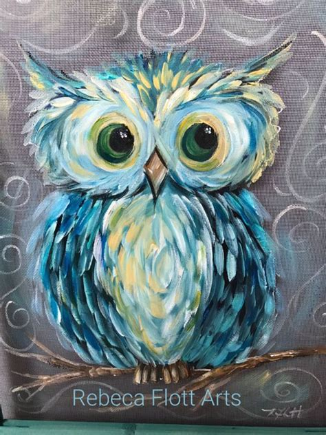 25 Best Ideas About Owl Paintings On 3 Canvas