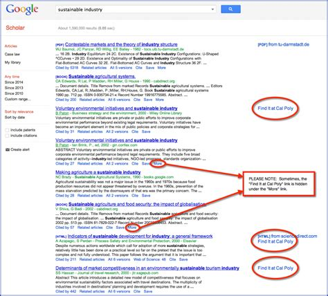 find  google scholar kennedy library home