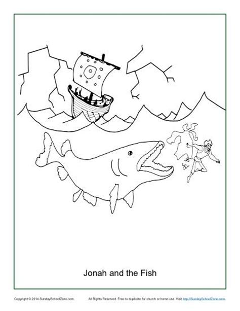 sunday school coloring pages fish jonah and the fish coloring page children s bible