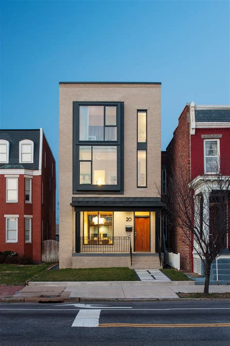 modern row house design modern row house design with amazing skylight in richmond virginia
