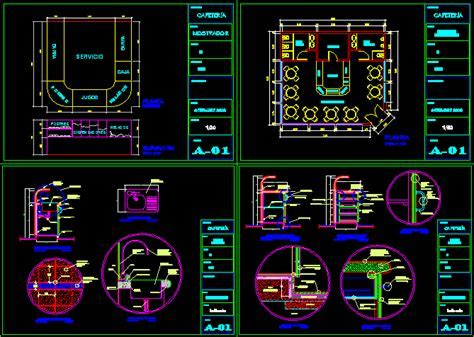 Coffee bar   details in AutoCAD   CAD download (181.9 KB