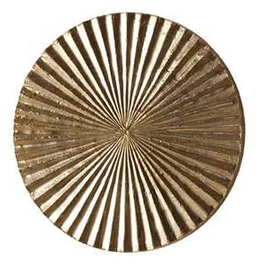 Circle Wall Decor apollo metallic silver modern wood circle wall decor