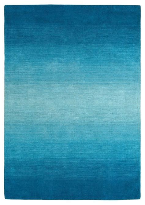 blue ombre rug peacock ombre stripe rug contemporary rugs by pier 1 imports