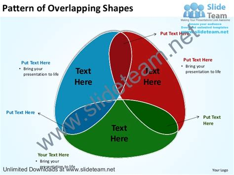 pattern shapes powerpoint pattern of overlapping shapes powerpoint diagrame