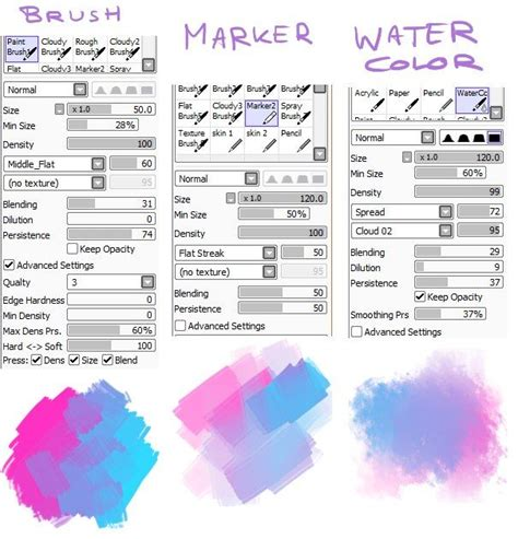 paint tool sai reference 80 best images about brushes paint tool sai on