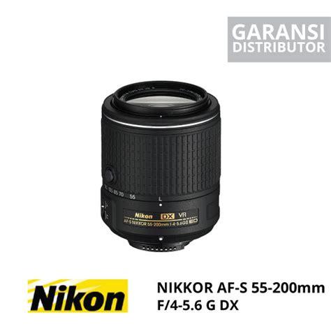 Nikon Af S 55 200mm F 4 5 6g Ed Dx nikon af s dx nikkor 55 200mm f 4 5 6g harga dan spesifikasi
