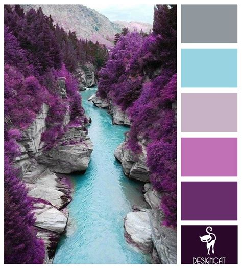 colour inspiration fairy pool grey blue tiffany lilac purple colour