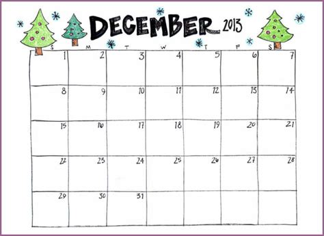 december calendar template december printable calendar designproposalexle