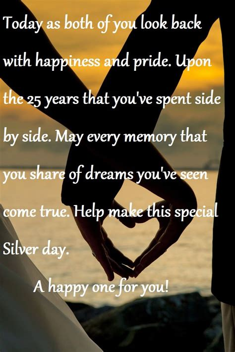 25th Wedding Anniversary Quotes by 25th Anniversary Quotes Quotesgram