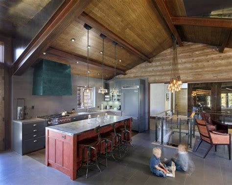 stone kitchen designs rustic modern kitchen design love it love the red with rustic woods