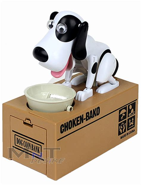 puppy bank hungry hound coin bank robot save money coin box gift ebay