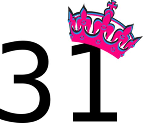Paint For Office by Pink Tilted Tiara And Number 31 Clip Art At Clker Com