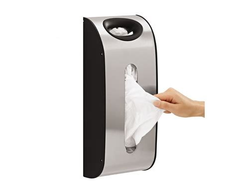 In Cabinet Trash Cans For The Kitchen simplehuman wall mount steel grocery bag dispenser