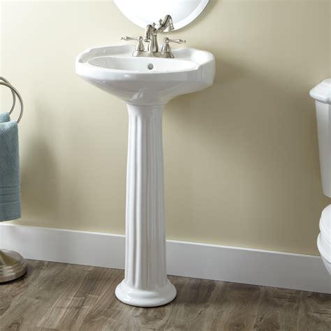 sink wrap for pedestal sink oval pedestal sink signature hardware