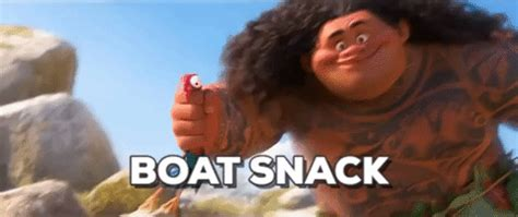 moana boat snack moana heihei gifs find share on giphy