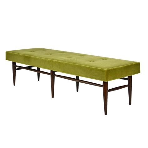mid century modern benches mid century modern bench in chartreuse mohair for sale at