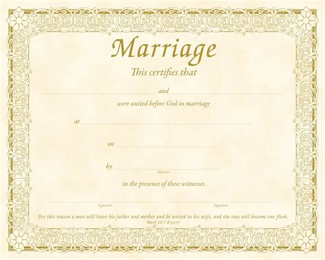Marriage Card Template In by 7 Marriage Certificate Templates Certificate Templates
