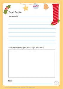 Dear Santa Template Kindergarten Letter by Dear Santa Letter Mr Printables