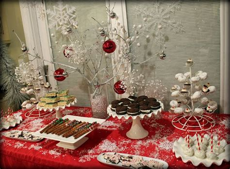 christmas party dessert table delectable desserts