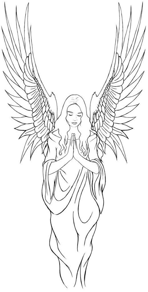 pin  marge allison  colouring pages angel tattoo