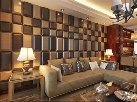 Wall Tiles For Living Room by 3d Leather Tiles For Living Room Wall Designs Modern
