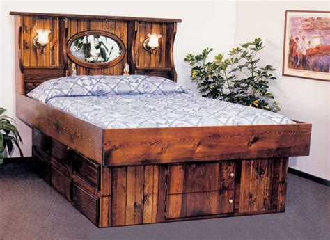 waterbed headboards waterbed crestwood with ls complete hb fr deck ped k