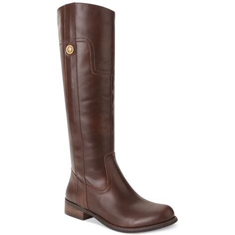 guess boots guess marshay shaft boots in brown lyst