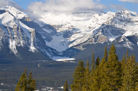stock photo  cold landscape mountain peak