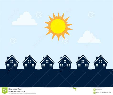 Design Of Row House - houses silhouette day royalty free stock photography image 31052127
