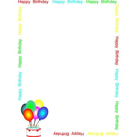 happy birthday photo frame template top 10 free borders for printable stationery available