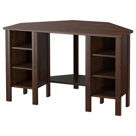 ikea desk storage brusali corner desk brown 120x73 cm ikea
