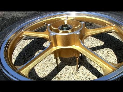 Motorrad Felgen Gold Lackieren by How To Paint Motorcycle Wheels Rims