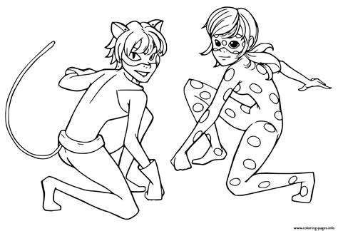 coloring pages miraculous ladybug print miraculous tales of ladybug cat noir kids coloring