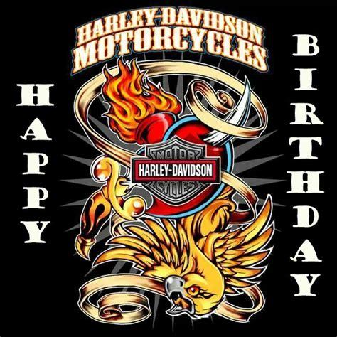 Harley Davidson Birthday Cards Free Happy Birthday Harley Davidson Verjaardagspins