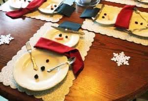 tavola di natale apparecchiare apparecchiare la tavola di natale a pupazzo di neve