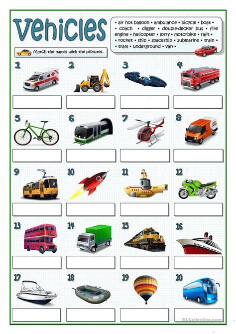 Car Types Esl by 24 Free Esl Vehicles Worksheets