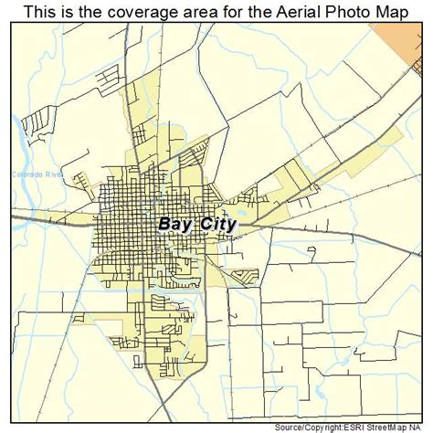 where is texas city tx on a map aerial photography map of bay city tx texas