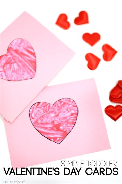 make a valentines day card easy toddler valentines day cards these are so easy to