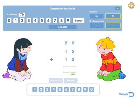 dos imagenes a pdf generador de sumas de 2 y 3 sumandos de una cifra