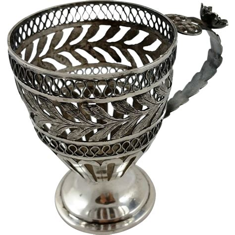 ottoman with cup holder unusual and old solid silver cup holder persian ottoman