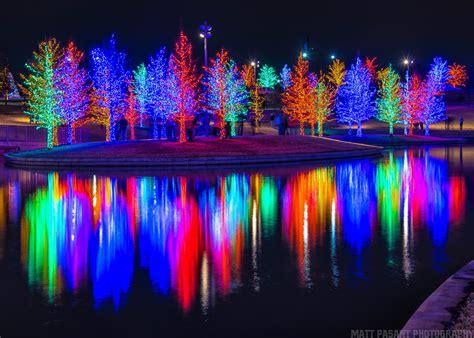 christmas lights from dallas on the ground vitruvian park dallas tx vitruvian lights matt pasant flickr