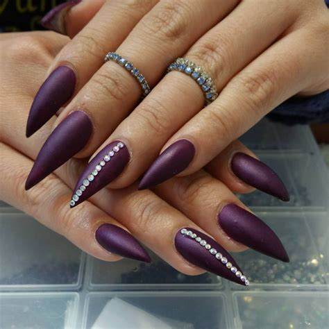 matte purple nail 35 purple nail design ideas