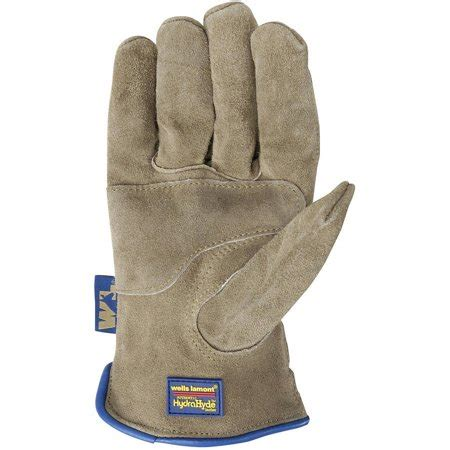 Cowhide Leather Work Gloves - lamont water resistant and breathable suede cowhide