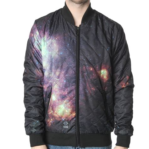 Galaxy Bomber Jacket Printing criminal damage galaxy bomber jacket