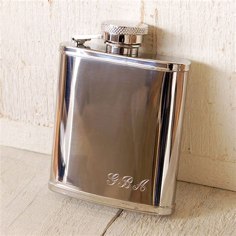 pocket hip flask with initials by highland notonthehighstreet