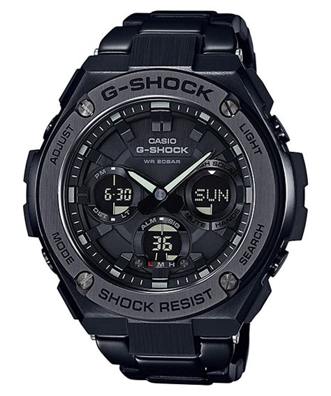Casio G Shock Gst S110bd 1a2dr Tough Solar Stainless Steel Band 200m gst s110bd 1b products g shock casio