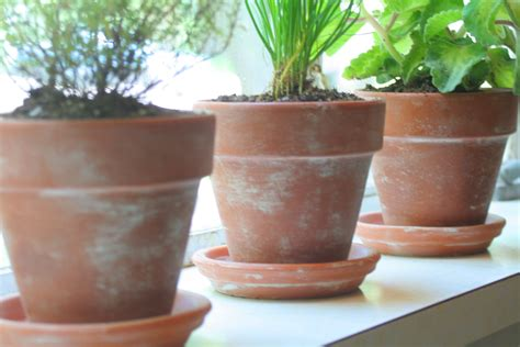 aging terra cotta pots tutorial the rescued home